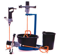 Mixers and buckets - thin joint and plasterers